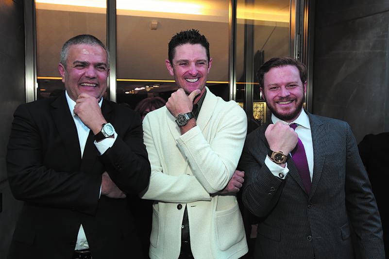 Ricardo Guadalupe, Justin Rose and Greg Simonian, photo by David Alvarez