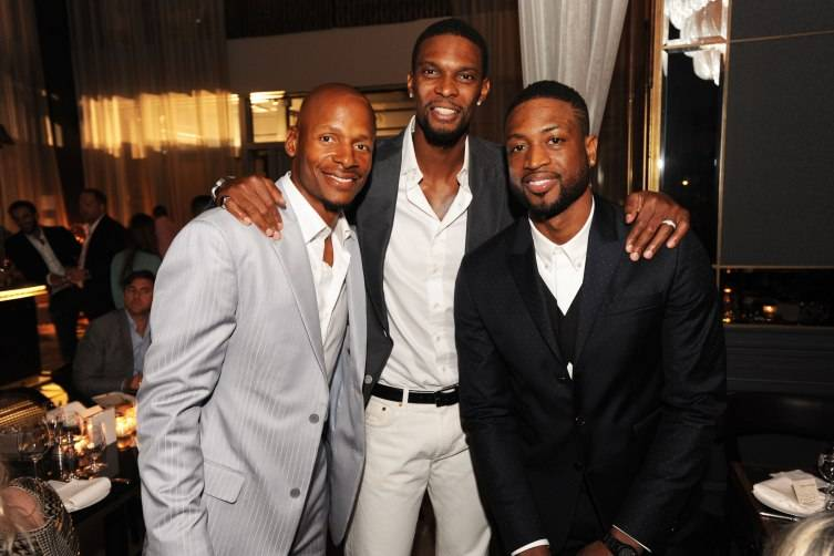 Ray Allen, Chris Bosh, & Dwyane Wade