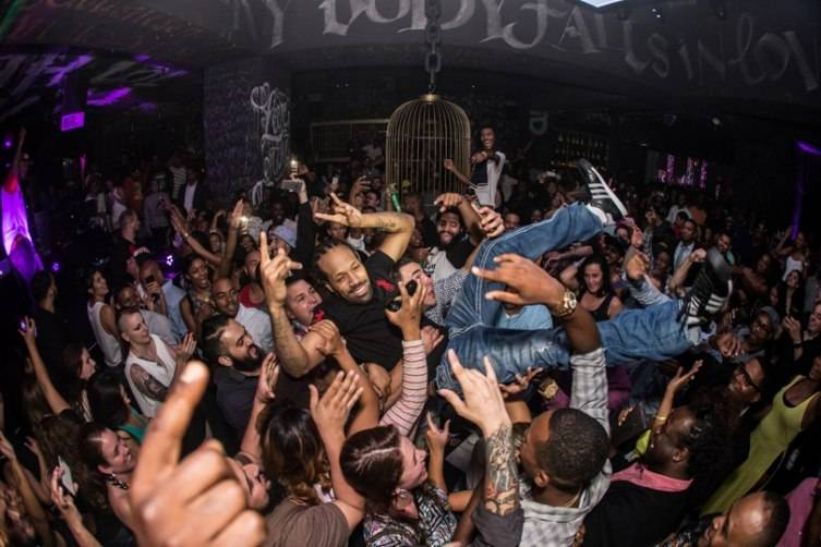Redman crowd surfs through the venue following his epic performance with Method Man, May 21