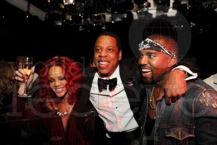Rhianna, Jay-Z and Kanye