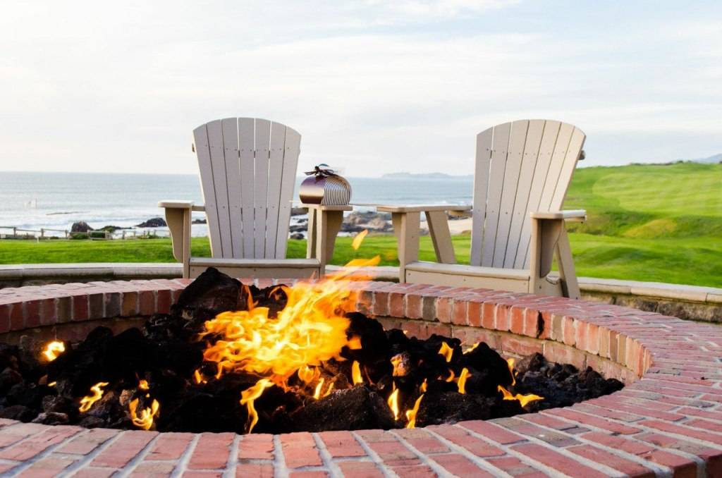 Ritz Carlton Half Moon Bay Fireplace with Chairs