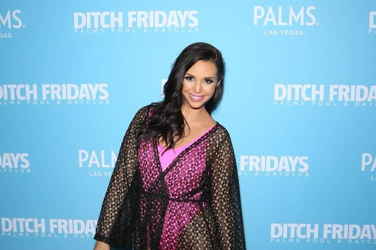 Scheana Shay arrives at Ditch Fridays.