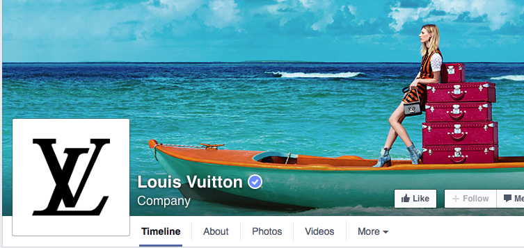 Louis Vutton's Verfied Facebook Page