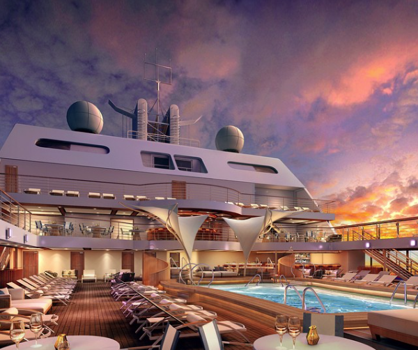 Image of the New Seabourn Encore Deck