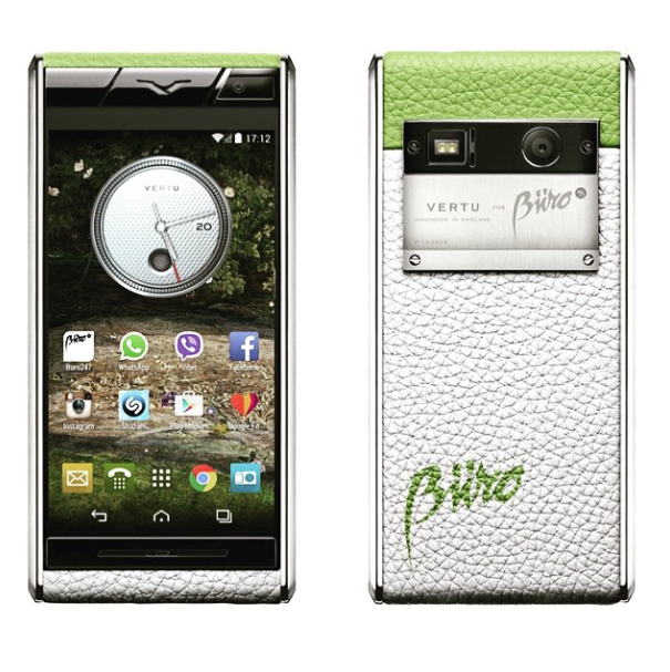 A specially designed Buro 24/7 Vertu phone.