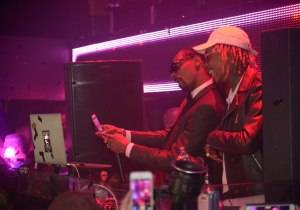 Snoop Dogg and Wiz Khalifa take a selfie at Tao.
