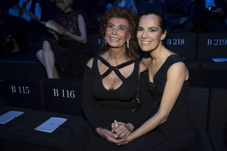 Sophia Loren and Roberta Armani