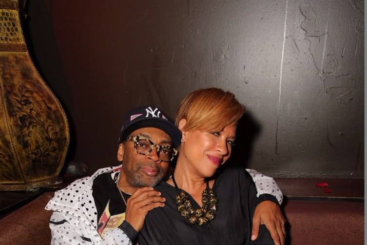 Spike Lee and Tonya Lewis Lee at TAO Fight Weekend