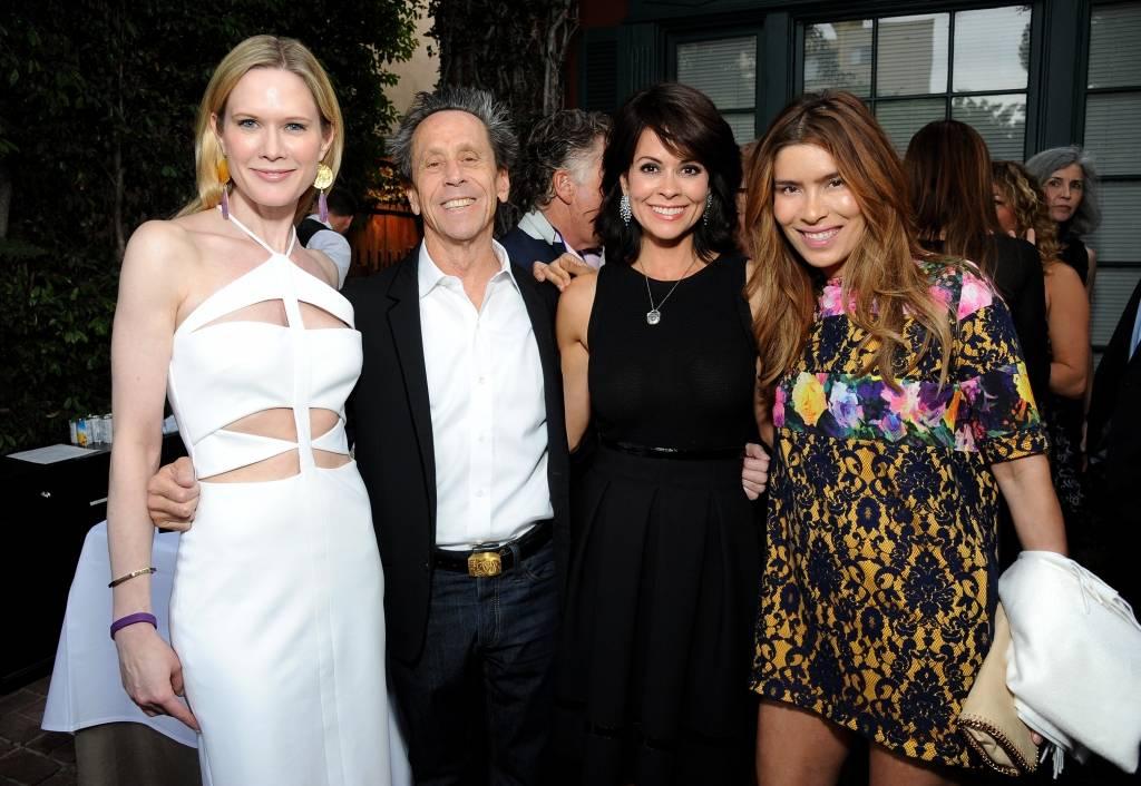 BEVERLY HILLS, CA - APRIL 30:  (L-R) Stephanie March, WOCA Celebrity Ambassador and actress, Honorary Chair and producer Brian Grazer, host, actress and CEO of ModernMom Brooke Burke-Charvet and Veronica Smiley attend the World of Children Award 2015 Alumni Honors at Il Cielo on April 30, 2015 in Beverly Hills, California.  (Photo by Angela Weiss/Getty Images for World of Children Award)