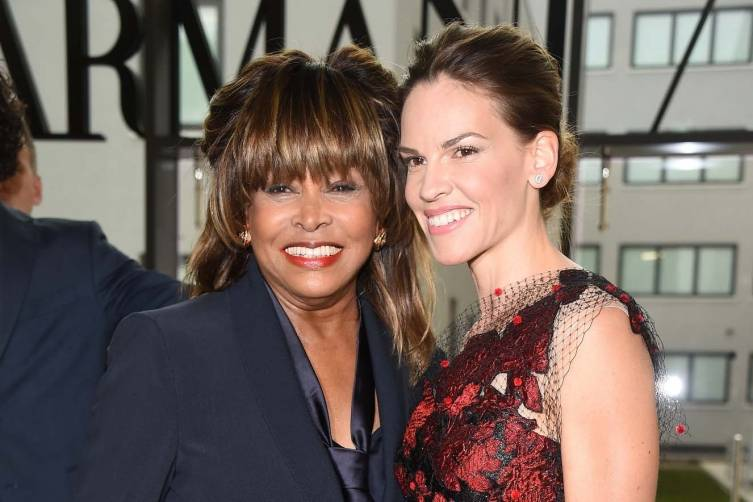 Tina Turner and Hilary Swank