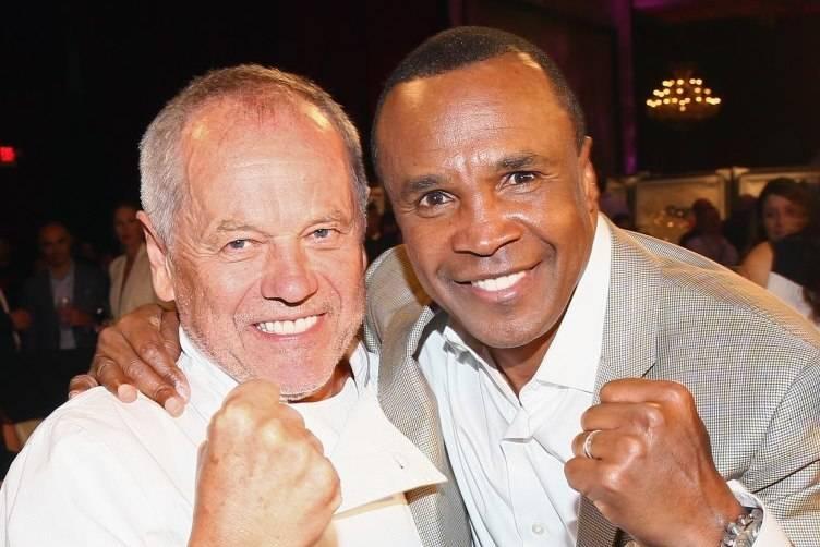 Chef Wolfgang Puck and former boxer Sugar Ray Leonard