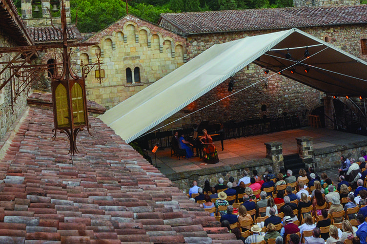Zukerman Chamber Players at Castello di Amorosa. Photographer: Paul E. Richardson