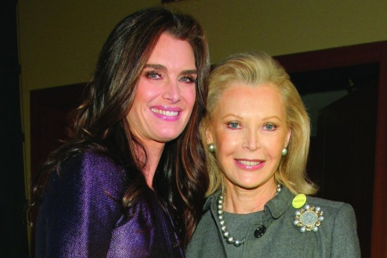 Brooke Shields and Audrey Gruss