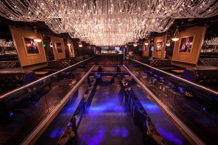 The interior of Gatsby is as opulent as you'd imagine a Jazz Age Nightclub would be.