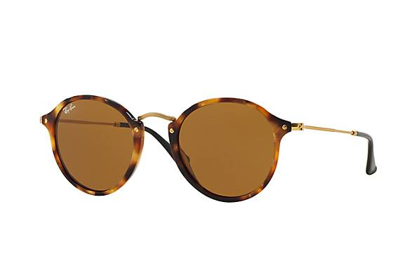 Ray-Ban Round Fleck Brown Classic B-15 Sunglasses ($165)