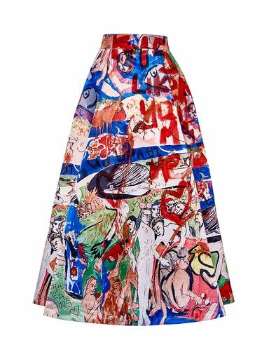 Alice + Olivia ball skirt hand-painted By Domingo Zapata, 2015