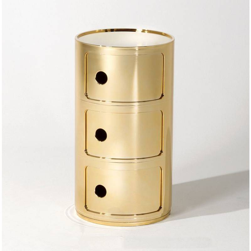Kartell Gold 3-Drawer Componibili