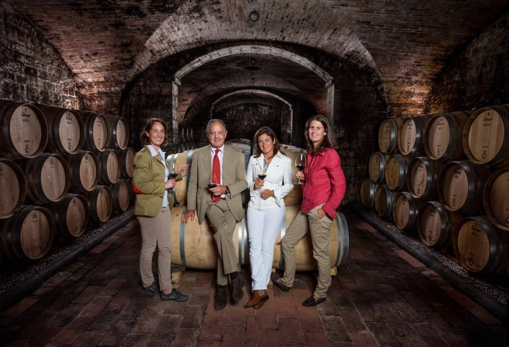 Marchese Piero Antinori and his three daughters, Albiera, Allegra and Alessia run Antinori, which began in 1385.