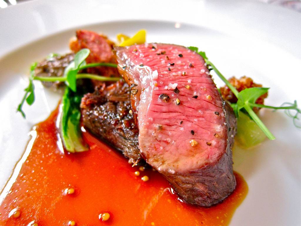 An herb roasted lamb dish from Eleven Madison