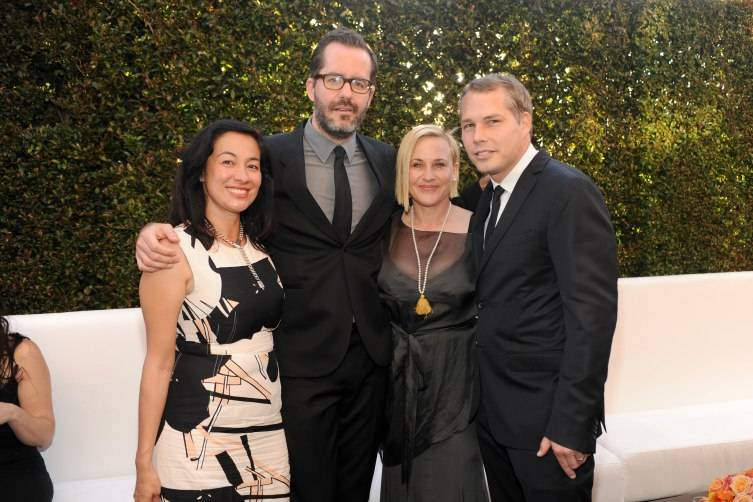 manda Fairey, Eric White, actress Patricia Arquette and artist Shepard Fairey