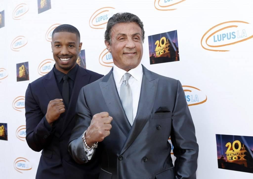 Michael B. Jordan and actor Sylvester Stallone