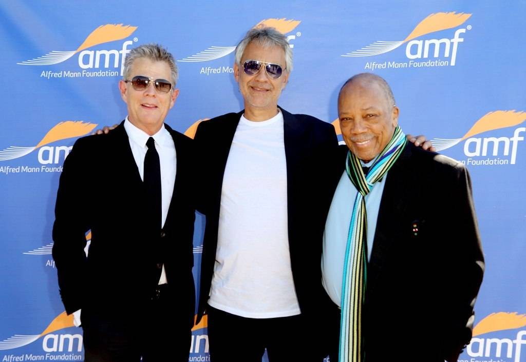 David Foster, Andrea Bocelli, and Quincy Jones