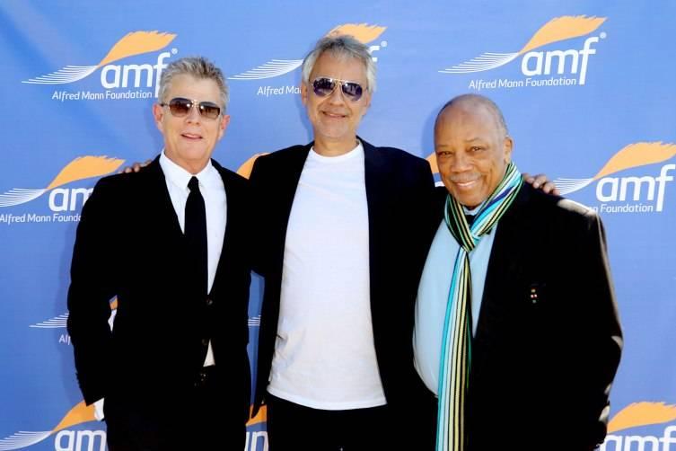 David Foster, Andrea Bocelli, and Quincy Jones