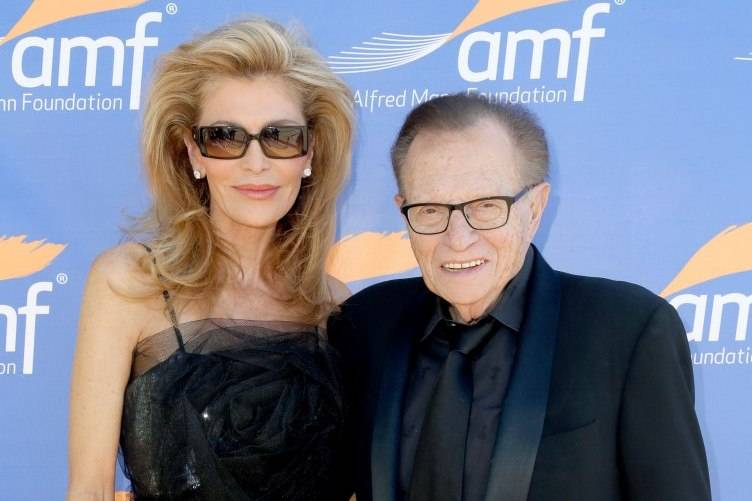 Shawn King (L) and Larry King