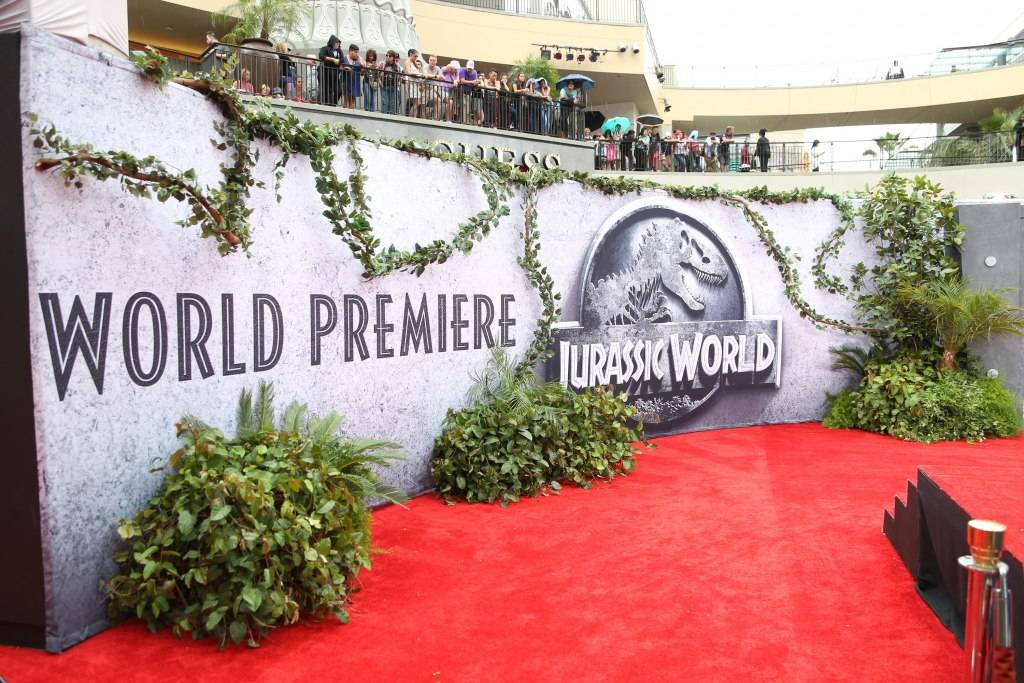 A general view of the atmosphere at the Jurassic World premiere