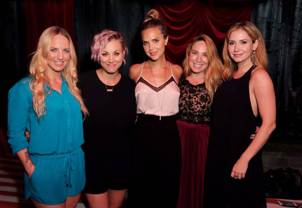 International Show Jumper Ashlee Bond, actresses Kaley Cuoco, Arielle Kebbel, Jenn Tolman, and Ashley Jones attend the Longines Masters of Los Angeles welcoming event at the Petit Ermitage
