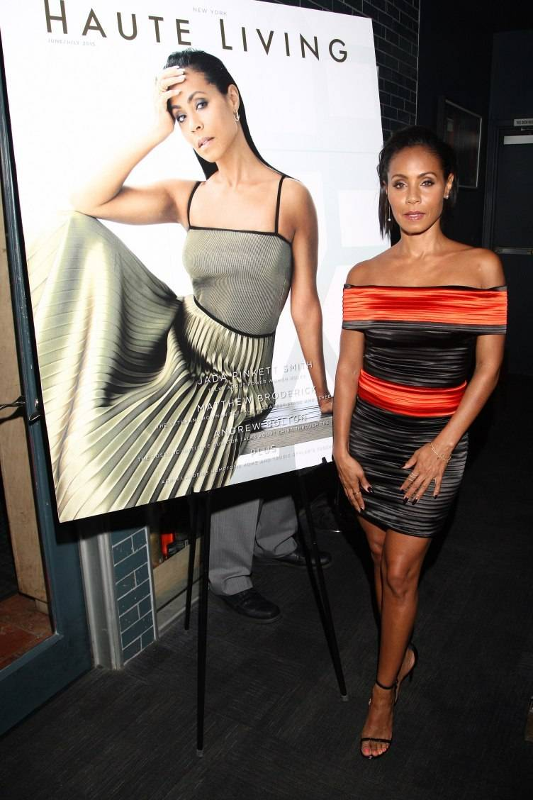 Actress Jada Pinkett Smith attends the Haute Living Magazine and Westime dinner in honor of her New York cover issue