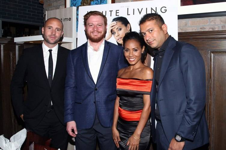 Vice President Americas at Dior Franck Suznjevic, President of Westime Greg Simonian, actress Jada Pinkett Smith and Haute Living Co-founder and co-publisher Kamal Hotchandani