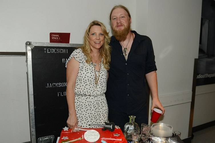 LAS VEGAS, NV - JUNE 09:  Susan Tedeschi and Derek Trucks celebrate Derek Trucks' 36th birthday after their concert backstage at the Pearl at the Palms Casino Resort on June 9, 2015 in Las Vegas, Nevada.  (Photo by Denise Truscello/WireImage) *** Local Caption *** Susan Tedeschi; Derek Trucks