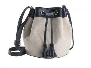 """Frances"" canvas bucket bag"