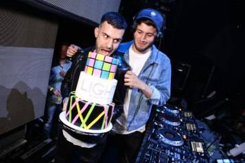 Baauer and A Trak  with cake 2
