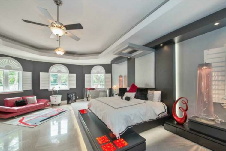 Bedroom in Coconut Creek Mansion