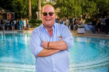 Chef Mario Batali stands poolside at The Palazzo's 7th Annual Carnival of Cuisine