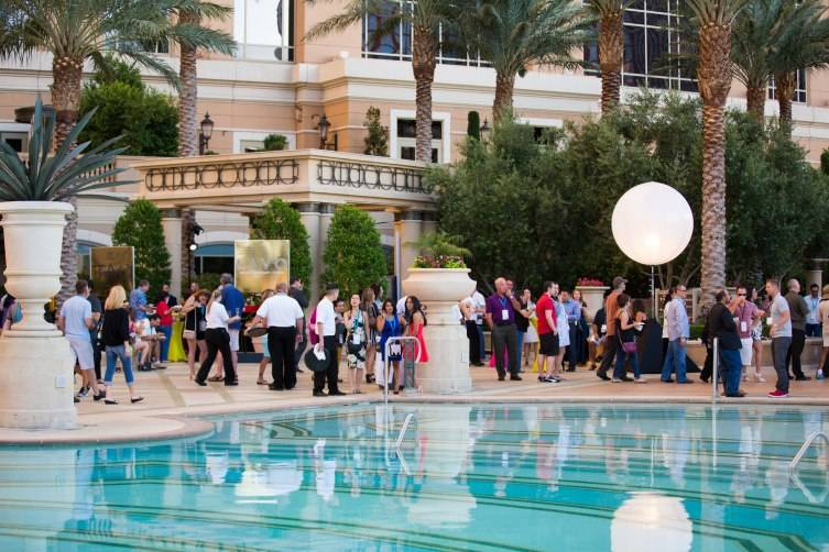 Guests enjoy beautiful weather and delicious fare at the 7th Annual Carnival of Cuisine at The Palazzo