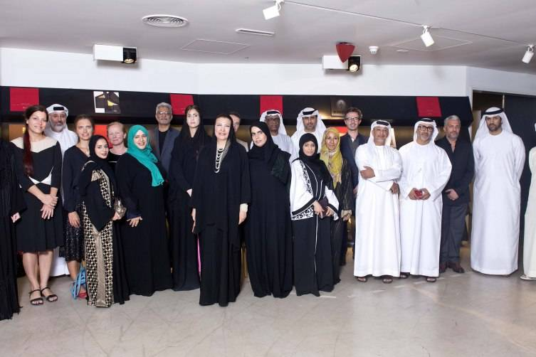 HE Hoda I Al Khamis-Kanoo with featured artists, institutions, and ADMAF advisors copy