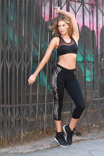 Michi Antigravity Bra, Solow Lace Side Panel Legging