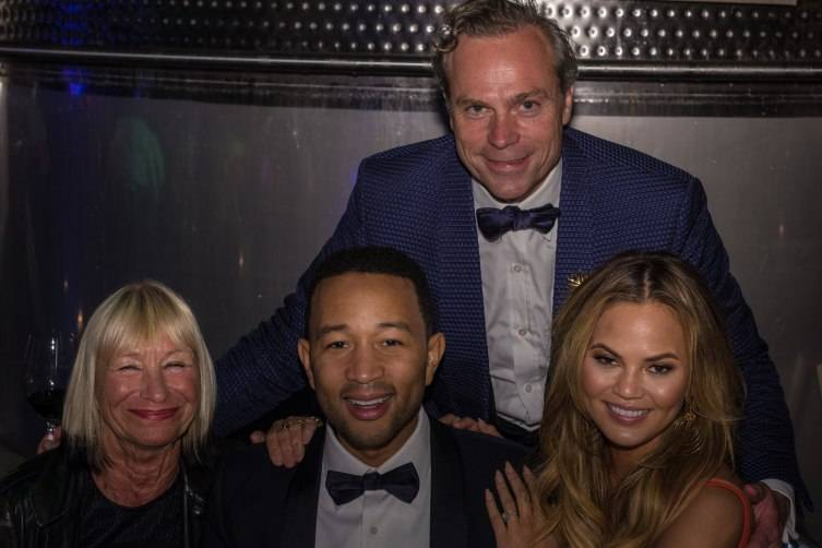 Jean-Charles Boisset welcomes John Legend as a guest at Raymond Vineyards.