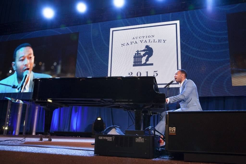 John Legend performs at the Live Auction of Auction Napa Valley 2015. Photo by Jason Tinacci