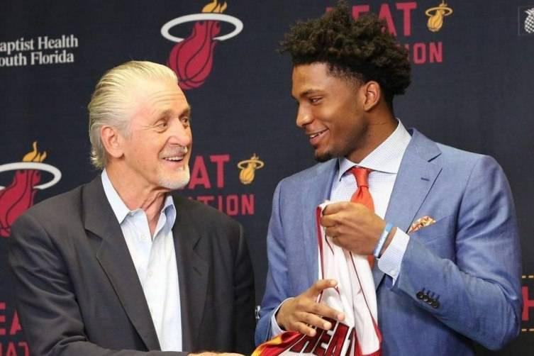 Justise Winslow and Pat Riley