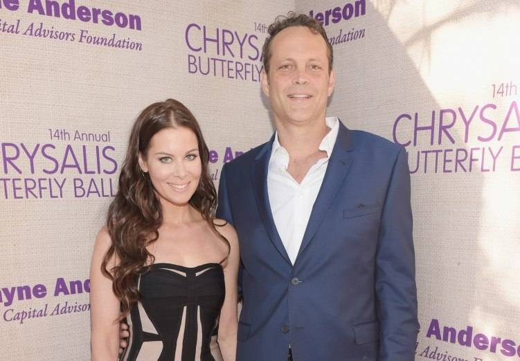 Kyla Weber (L)  and Vince Vaughn