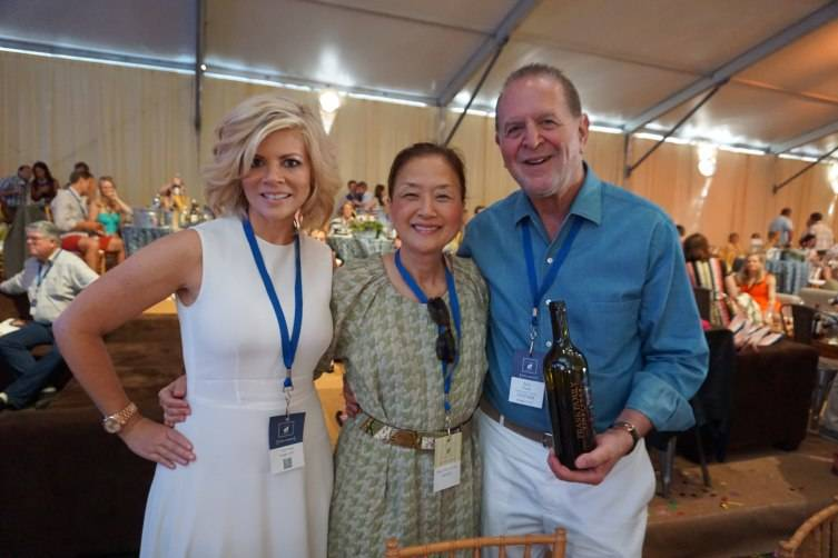 Leslie Frank, Olivia Hsu Decker and Rich Frank