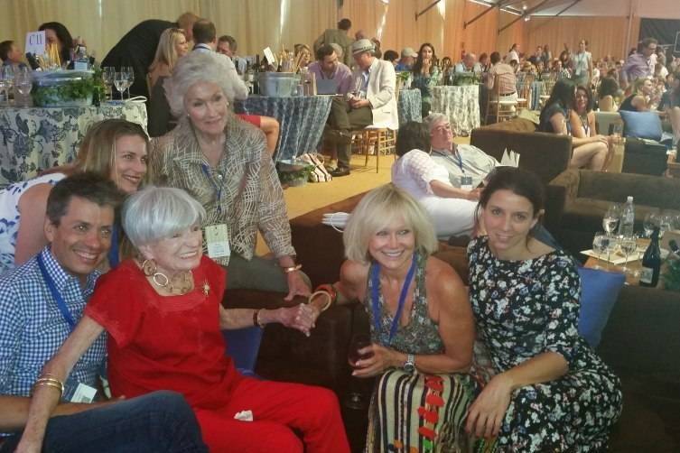Margrit Mondavi, Molly Chappellet, Kathryn Walt Hall and friends