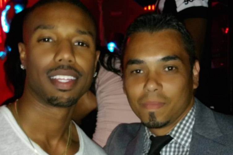 Michael B Jordan at Marquee