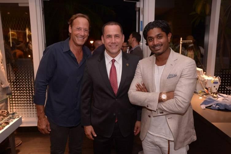 Michael Comras, Mayor Philip Levine, & Nish de Gruiter
