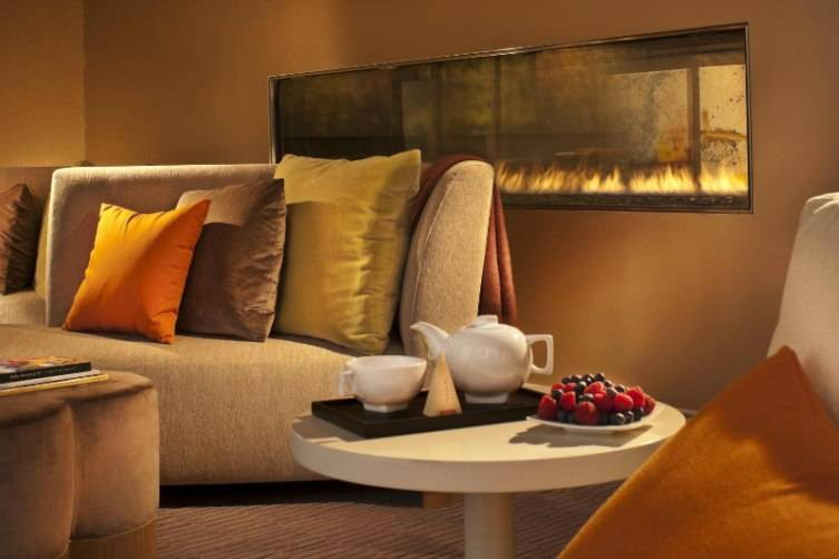The relaxation room at Mokara Spa is the perfect way to leave the real world behind.