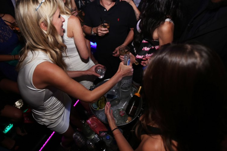 Nicky Hilton serving Belvedere